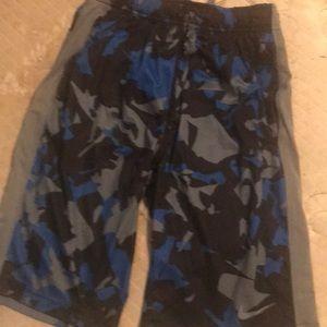 Kids Nike Blue camouflage longer shorts